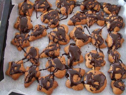 glazurate cu glazură de ciocolată